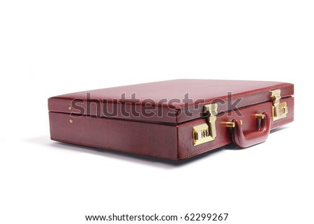 Briefcase on Isolated White Background - stock photo