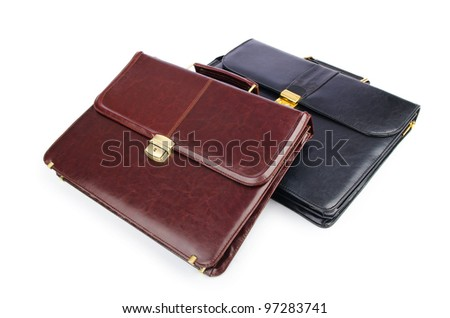 Briefcases isolated on the white