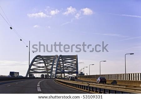 Brienenoord bridge - stock photo