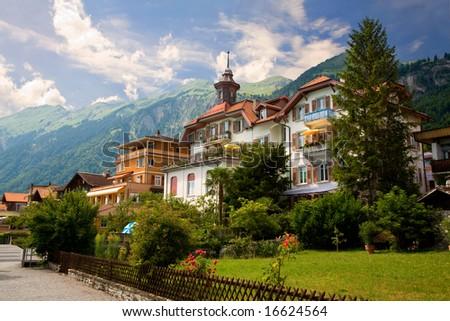 Brienz, canton of Berne, Switzerland - stock photo