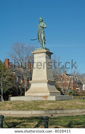 Brigadier General Hugh Mercer Monument - Revolutionary War hero - Fredericksburg, Virginia