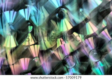 Bright abstract background. CD. Light dispersion. All colors of a rainbow. - stock photo