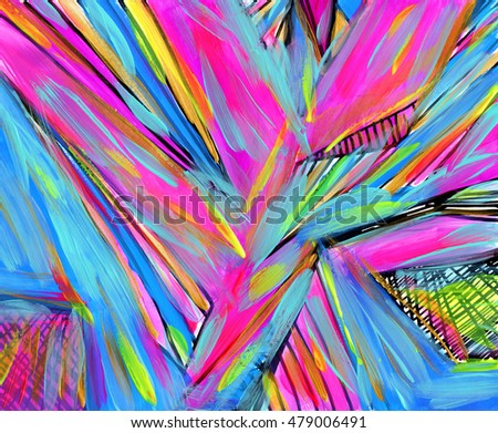 Bright abstract background, hand painted with acrylic