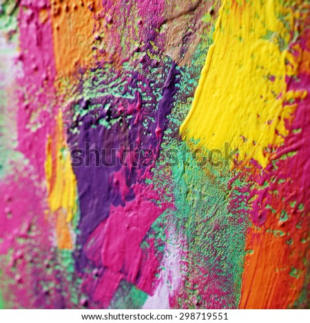 bright abstract background painting,close up - stock photo