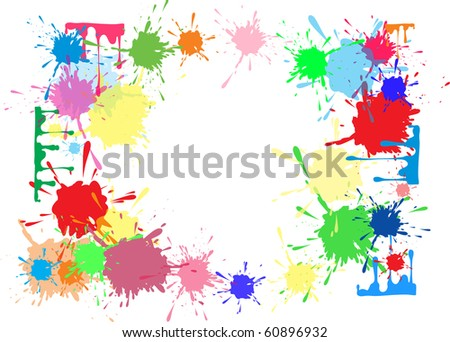 bright abstract background with blots. Raster Version - stock photo