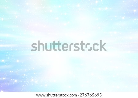 Bright abstract blue background with glitter - stock photo