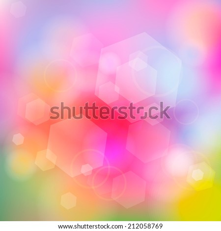 Bright Abstract Blurry Background,  illustration - stock photo