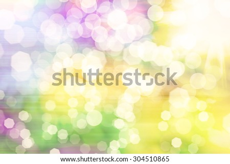 Bright abstract bokeh background