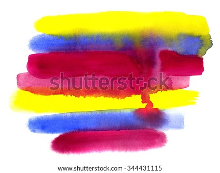 Bright abstract colorful watercolor background - stock photo