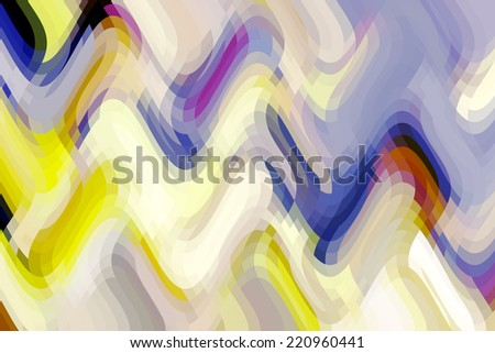 Bright abstract illustration with overlapping waves of mostly pastel colors