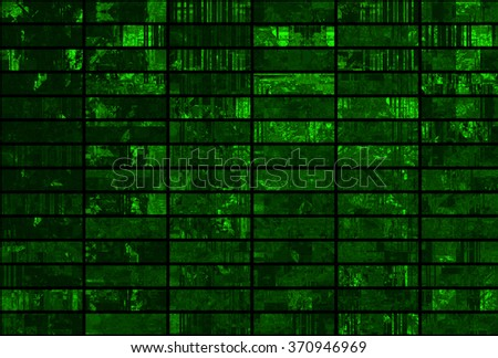 Bright abstract mosaic green background with gloss