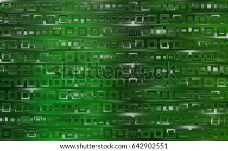 Bright abstract mosaic green background with gloss. illustration beautiful.
