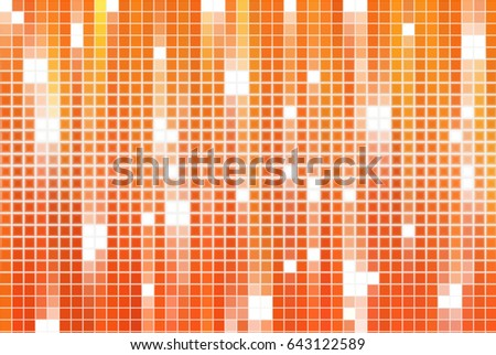 Bright abstract mosaic orange background with gloss. illustration beautiful.