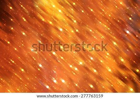 Bright abstract orange background with glitter