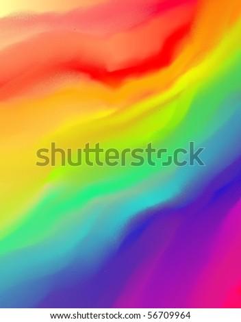 Beautiful Rainbow Background On Inspiration