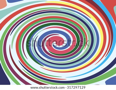 Bright abstract spiral for background or design.