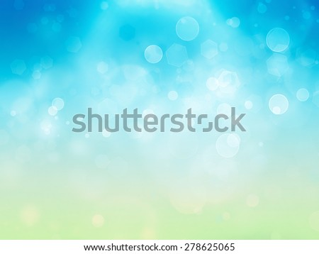 bright abstract summer background with blur effect - stock photo