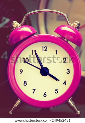 Bright alarm clock - stock photo