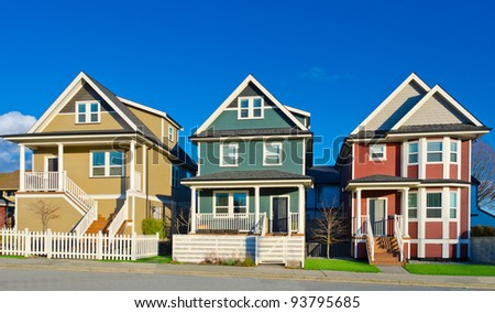Single family detached house stock photos images for Great american homes