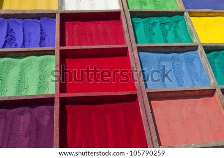 Bright Asian Colours - stock photo