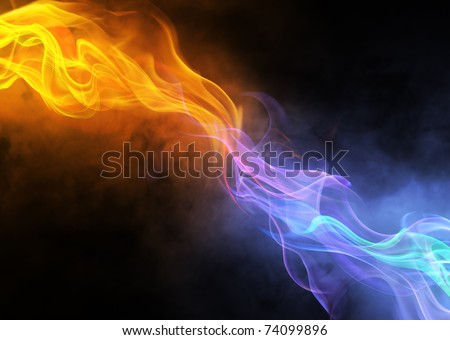 bright background abstraction with coloured lines - stock photo