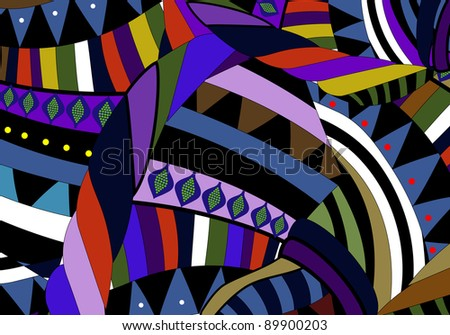 bright background in ethnic style - stock photo
