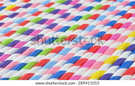 Bright background of colorful paper straws - stock photo