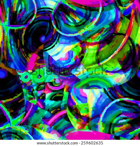 Bright background with multiple colors. Seamless pattern. - stock photo