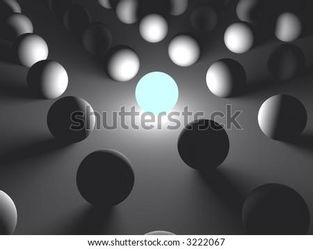 Bright ball - stock photo