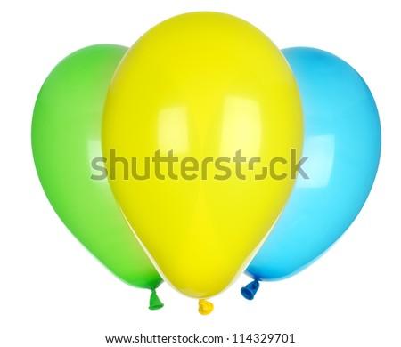 Bright balloons - stock photo