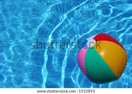 Pool Water With Beach Ball swimming pool ball stock images, royalty-free images & vectors