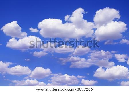 Bright Beautiful Blue Sky - stock photo