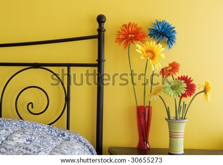 Bright Bedroom - stock photo