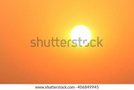Bright big sun on the sky. - stock photo