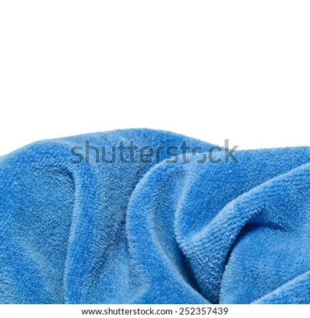 Bright blue a fabric fleece - stock photo