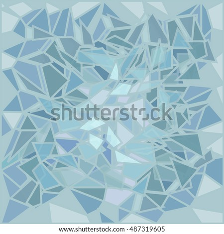 bright blue glass broken