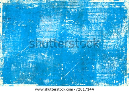 Bright blue grunge background - stock photo