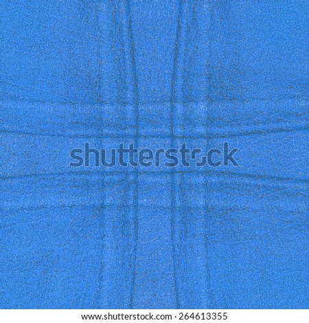bright blue leather texture, seams in shape of the cross