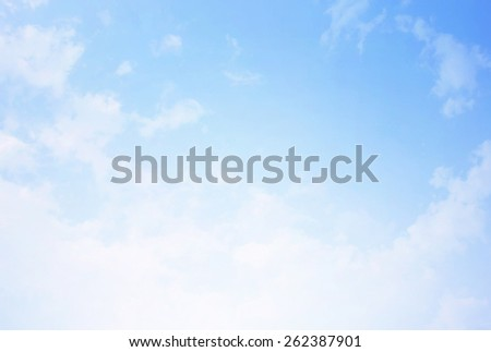 Bright blue skies and bright sun. - stock photo