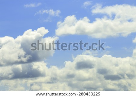 Bright blue sky and cloudy in summer Thailand. - stock photo