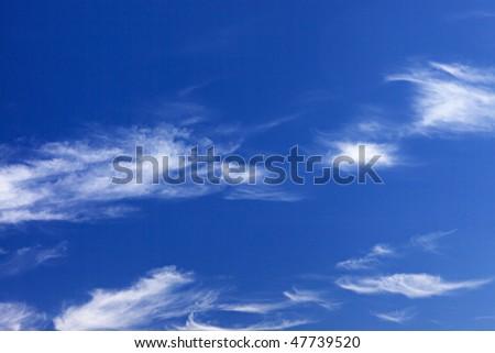 bright blue sky background - stock photo