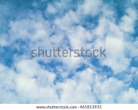 bright blue sky with so many clouds