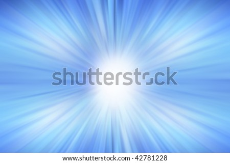 Bright blue surreal streaked background - stock photo