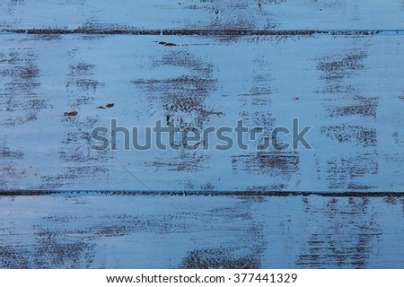 Bright blue wooden texture material background - stock photo