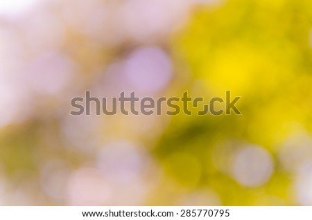 Bright blurred bokeh violet and vintage background from nature environment - stock photo