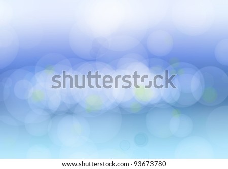 Bright blurs on blue background