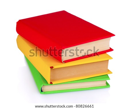 bright book isolated on white - stock photo