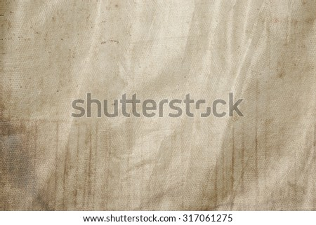 bright brown background wrinkled paper texture canvas pattern - stock photo