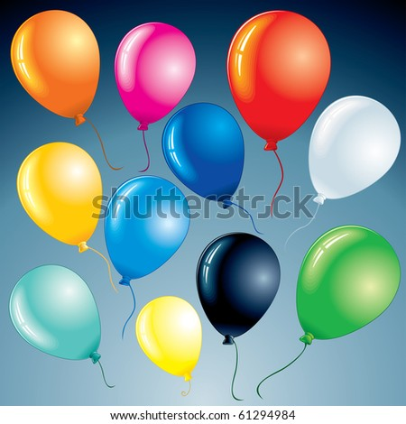 Bright celebrating balloons for your festive design project-(id=61294570-version vector)-more similar images see at my gallery