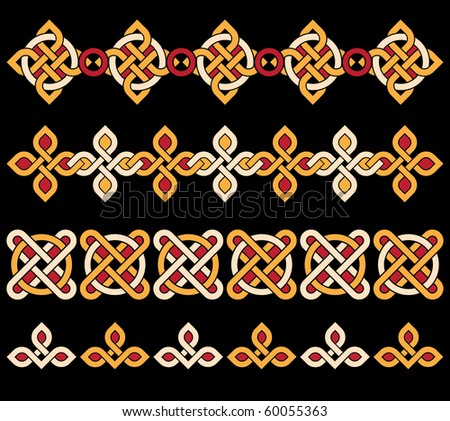 bright celtic ornaments - stock photo